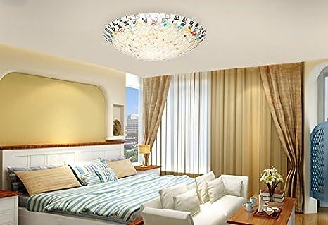 Soffitto lampade mediterraneo soggiorno guscio di soffitto del led