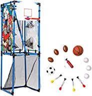 Sport Squad 5-in-1 Multi-Sport Toss Game Set - Play Football, Baseball, Basketball, Soccer, and Darts - Perfec