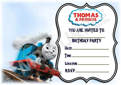 Thomas the Tank Engine fiesta de cumpleaños invitaciones ...