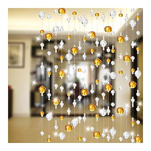 WUFENG-Curtains Bead Curtain Crystal Glass Diamond Face Living Room Cut Off Bedroom Entrance 20 Sizes Can Be Customized (Color : B, Size : 100x80cm-30 Roots)