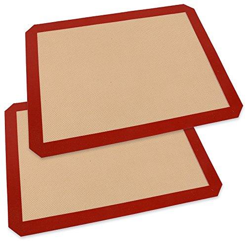 Zehui Silicone Baking Mat for Half-Size Cookie Sheet 2 Half Sheet, Non Stick Cooking Sheets, 15.7 x 11.8 - Miu Mui