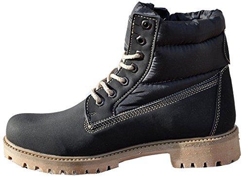 Herren Lederstiefel Tamboga boots_977_syh_k_taban-City, schwarz