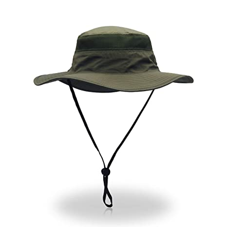 4658f5fab ToVii Windproof Fishing Hats UPF50+ UV Protection Sun Cap Outdoor Bucket  Mesh Hat 22-24 inch