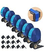 MIAOKE Set van 12 bevestigingsriemen, spanriem met klemslot, sjorbanden voor bevestiging aan de fietsendrager, 40 cm lang