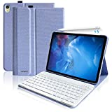 iPad Pro 11 Keyboard Case 2018 - Magnetically Detachable Wireless Keyboard-Support Apple Pencil 2nd Gen Charging- iPad Pro 11 inch Case Keyboard Protective Folio Stand Cover with Keyboard(Sky Blue)