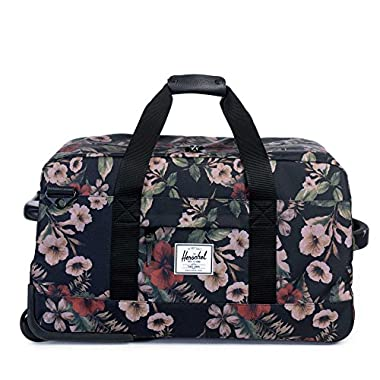 Herschel Supply Co. Wheelie Outfitter Luggage, Hawaiian Camo/Black Leather, One Size