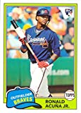 #3: 2018 Topps Archives Baseball #212 Ronald Acuna Jr. Rookie Card