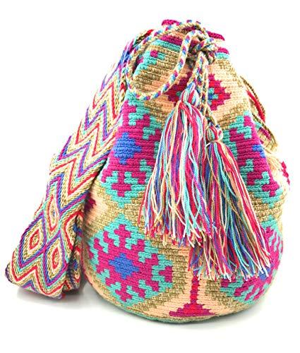 e Wayuu fatte Borse colombiano in uomini stile donne colombiane per mano zaino o a Cede fqBHPSq