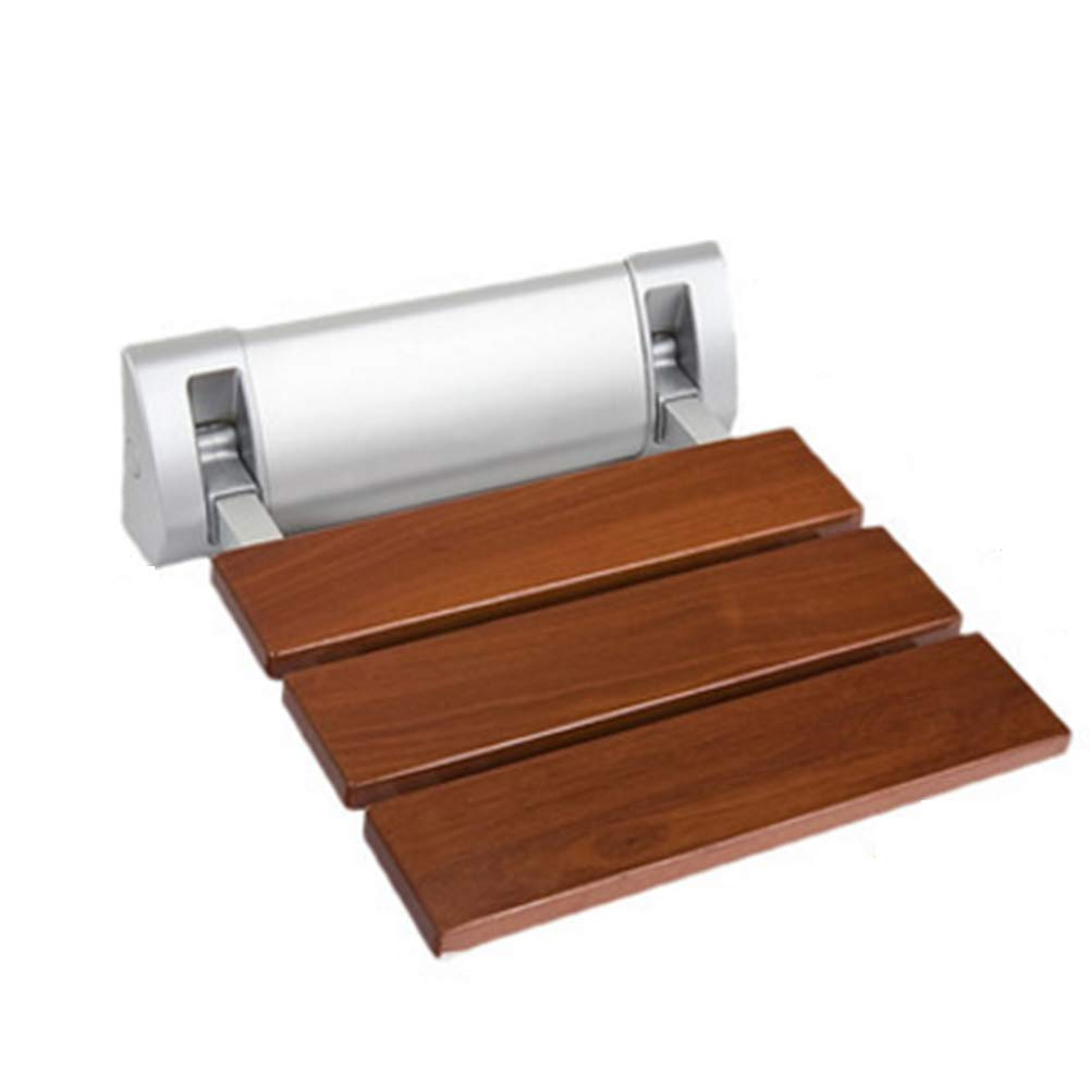 NYDZDM Wall-Mounted Folding Stool Bathroom Shower Stool Change shoes Bench Solid Wood Non-Slip Foldable Sturdy Safety Durable Bath Chair,32x32.8cm