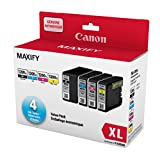 Canon PGI-1200XL Genuine PGI-1200XL High Yield Four Colour Value Pack, Black, Cyan, Magenta and Yellow Ink