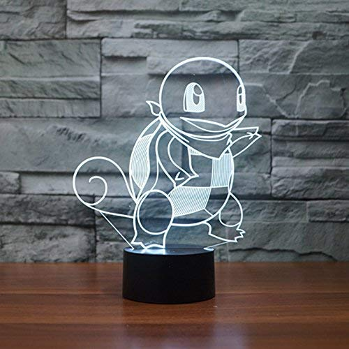 AIBULB Squirtle 3D Night Light 7 LED Color Change Desk Lamp Touch Button Room Decor