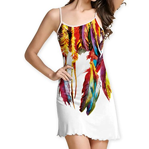 Moulante de de YICHUN de Robe Femme Blouse shirt Nuit Robe Courte Top Tunique Fille Jupon Chambre Dbardeur Plage Robe T 1 Plume Robe Mini Robe 6Rnr60q