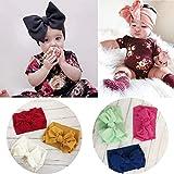 Baby Headbands Turban Knotted, Solid Color Knot Turban Headband Headwear Hair Accessories