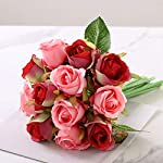 12pcsLots-Artificial-Rose-Flowers-Wedding-Bouquet-Silk-Rose-Flowers-for-Home-Party-Decoration-Wedding-Fake-FlowerWhite-Green