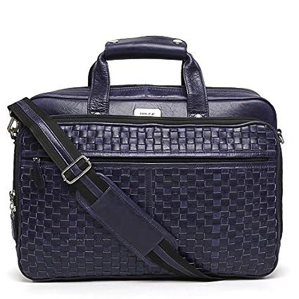 79a3fc1f8b Brune Leather Blue Laptop Bag for Men