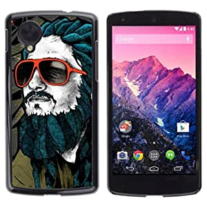 YOYOSHOP [Cool Che Guevara Rasta] LG Google Nexus 5 Case