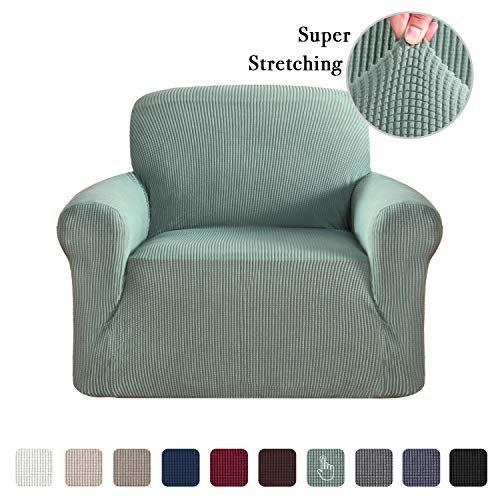 Flamingo P 1 Piece Skid Resistance Sofa Cover Jacquard Spandex Furniture Protector Couch Covers, Fitted Sofa Protector Stretch Knitted Jacquard Sofa Slipcovers, Dark Cyan, ()