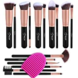 BESTOPE Makeup Brushes 16 PCs Makeup Brush Set Premium Synthetic Foundation Brush Blending Face Powder Blush Concealers Eye Shadows Make Up Brushes Kit(with Clean Egg)