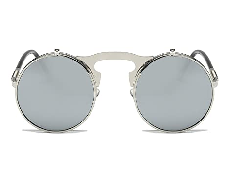 Huateng Lunettes de soleil de style gothique vintage rétro lunettes de soleil  pour hommes et femmes 3d1fbd8fab57