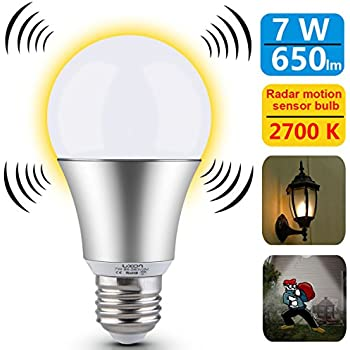 Luxon motion sensor light bulb 7w smart bulb radar dusk to dawn led compare with similar items workwithnaturefo