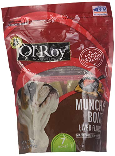Munchy Bone Liver flavor 20 oz 2 pack - Liver Flavor Bone