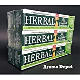 HERBAL ESSENTIAL TOOTHPASTE NEW 5 IN 1 FORMULA 6 PACK ORAL CARE DENTAL