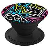 PopSockets: Collapsible Grip & Stand for Phones and Tablets - 80S Black