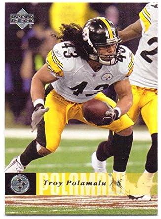 16c463ef19c Troy Polamalu 2006 Upper Deck  157 - Pittsburgh Steelers at Amazon s ...