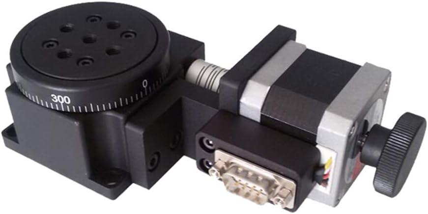 Alta Precisión Motorizado Etapa De Rotación, Rotación De 360 ° Etapa 60 Mm Mesa De La Máquina W/Motor Paso A Paso Para Experimentos Científicos Automatización