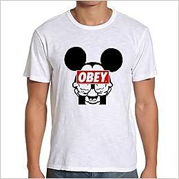 903008a98 Mickey Mouse Obey Tshirt Mens Tshirt - White M RF: Amazon.com: Books