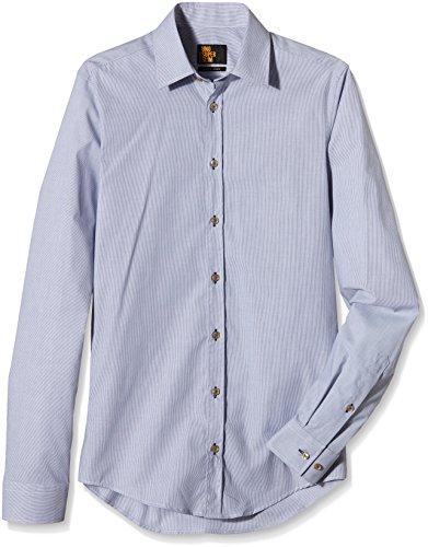 Uno Uomo Super Slim Dunkelblau Camicia 14 Gestreift Seidensticker Hq8Bw7x1q