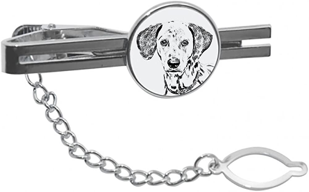Dalmatian, tie pin, Clip with an Image of a Dog, Elegant and Casual Style