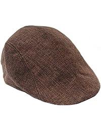 Unisex Newsboy Flat Cap Gatsby Caps Fashion British Style Peaked Cap Baseball Hat for Women Men