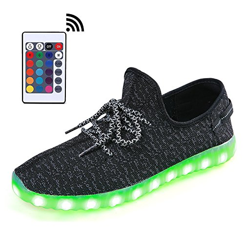 Image of LeoVera Remote Light Up Shoes USB Charging LED Shoes Flashing Sneakers