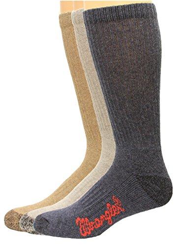 Wrangler Cotton Boot Sock 3 Pack, Color Assort, W 10-12/M ()