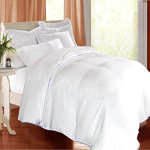 Kathy Ireland Home Heirloom 1000 Thread Count Cotton Rich Swiss Dot Down Alternative Comforter, White, Full/Queen Down Swiss Dot