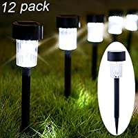 Maggift 12 Pack Solar Pathway Lights Solar Garden Lights...