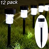#7: Maggift 12 Pack Solar Pathway Lights Solar Garden Lights Outdoor Solar Landscape Lights for Lawn, Patio, Yard, Walkway, Driveway