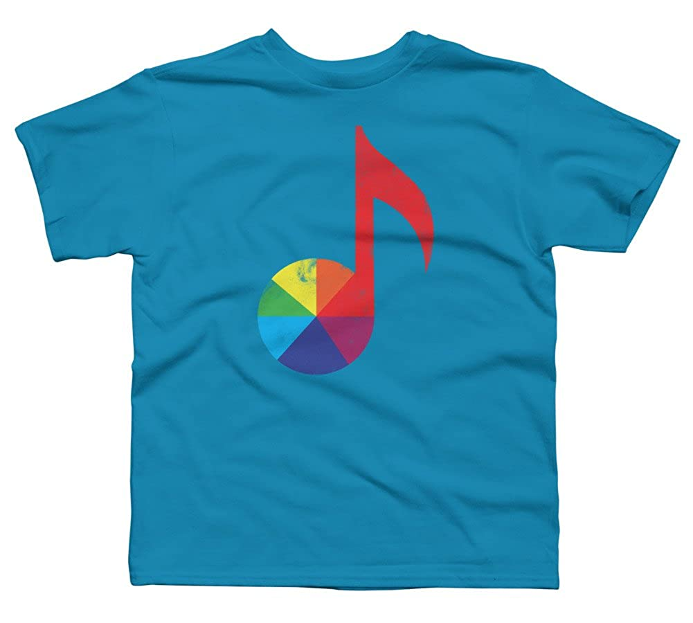 Design By Humans Music Theory Boys Youth Graphic T Shirt