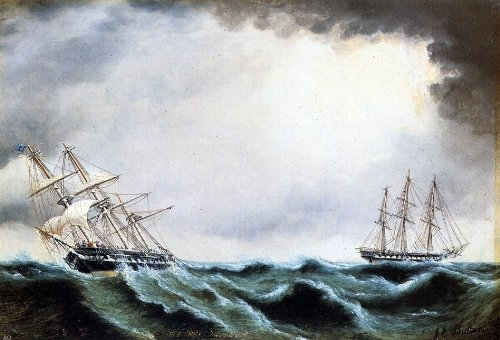James E Buttersworth Two Clipper Ships - 18.05