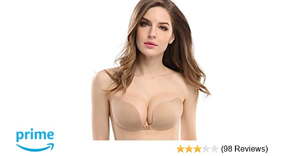 f51ae4b9de81f Deceny CB Invisible Bras Self Adhesive Bra Silicone Bra Push up Strapless  Bra at Amazon Women s Clothing store