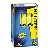 HI-LITER Desk Style, Fluorescent Yellow, Box of 12 (24000)