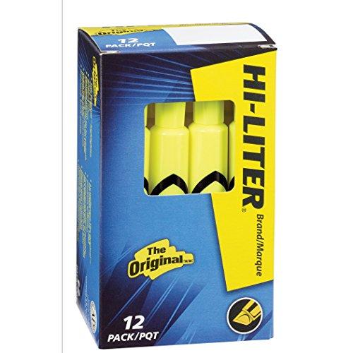 Hi Po Formula (HI-LITER Desk Style, Fluorescent Yellow, Box of 12 (24000))