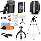 "Advanced Accessory Kit For Olympus TOUGH TG-2 iHS, TG-3, TG-4 Waterproof Digital Camera Includes Replacement LI-90B, LI-92B Battery + Charger + Case + FLOAT STRAP + 57"" Tripod + More"