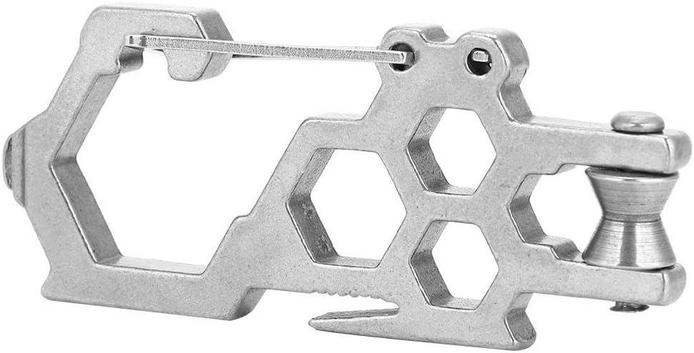 Keenso Mechanische Riemenscheiben Hochleistungs-Seilzug-Klettersicherheitsausr/üstung aus rostfreiem Stahl Multifunktionswerkzeug