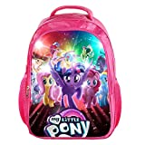 YOURNELO Girl's 3D Printed Pattern My Little Pony Rucksack School Backpack Bookbag (Color 21) Review