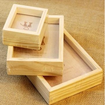 Photo Frame & Accessories - Family Vintage Pictures Frame Decor Wooden Wedding Desk Photo - Woody Exposure Awkward - - Frame Card Heart Place Double
