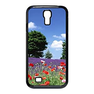 3D Okaycosama Funny Samsung Galaxy S4 Case Flower 328 Protective Cute for Girls, Phone Case for Samsung Galaxy S4 M919, [Black]