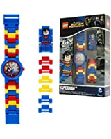 LEGO Watches Superman Kids Minifigure Link Buildable Watch