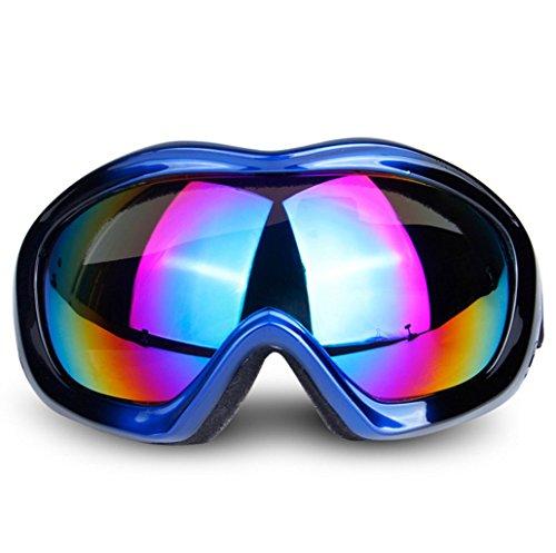 Gafas PC de esférica Parabrisas de Capa A Vidrios Ojo de Viento de esquí explosiones a Prueba Prueba Espejo una C Sola Lente PwAwqa